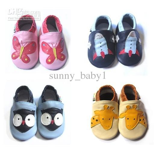 NEW STYLES! Genuine Leather Baby Soft Sole Shoes Infant Baby Shoes ...