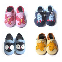 Wholesale NEW STYLES Genuine leather Baby soft sole shoes Infant baby shoes Baby Prewalker First walker shoes
