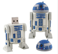Wholesale Genuine G G G G G STAR WAR R2 D2 robot USB Flash Drive Flash Disk Memory Stick