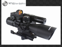 Wholesale Vector Optics x40 Hunting Green Laser Riflescope with Mini Red Dot Scope Weapon Sight