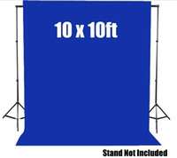 Wholesale Mx3M ftx10ft Cotton Goog Quality Muslin Backdrop Studio Photography Chromakey Background Solid Blue Color