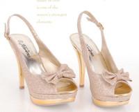 al por mayor sexy high heels-zapatos de tacón alto envío de la nueva señora atractiva de color beige arco mujeres de la plataforma de la bomba tamaño libre 34-39