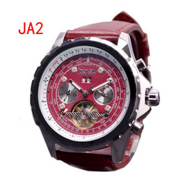 new jaragar men luxury watches tourbillon dive stainless red mens mechanical day date watch gift box