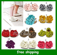 Wholesale TOP BABY Sandals baby Barefoot Sandal children s Red Girl Shoes Toddler flower Shoes