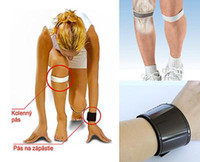 Wholesale 3 x DR LEVINE MAGNETIC KNEE STRAPS SUPPORT BLACK