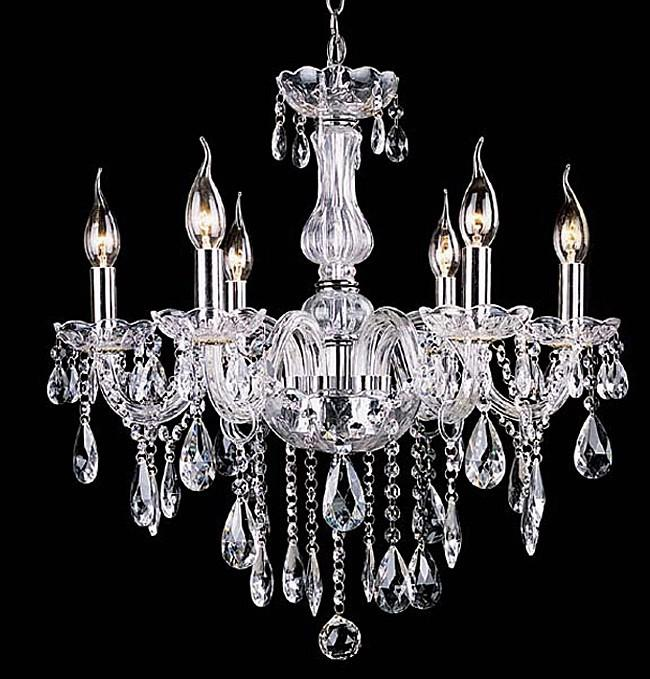 Simple crystal chandelier bedroom lights living room - Chandelier en verre pas cher ...