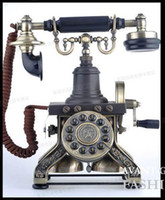 Wholesale 1892 Eiffel Tower ornament telephone antique phone retro phone Corded Telephone Classical Telephone