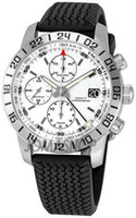 Mechanical whites gmt - luxury Mens Miglia GMT Sapphire White Dial Rubber strap Automatic Watch Men s Mechanical Watches