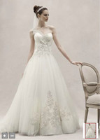 Reference Images One-Shoulder Tulle Glamour Collection! NEW Sexy Cheap One Shoulder Tulle Ball Gown with Lace Appliques Wedding Dresses