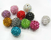 Wholesale Mix Colors mm Pave Disco Ball Crystal Bead