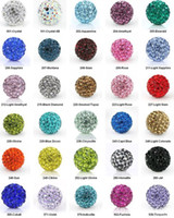 Wholesale 10mm Crystal Loose Beads Spacer Pave Disco Ball Beads Can be mixed Colors