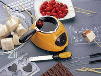 Wholesale Chocolate Melting pot Make Chocolate Pot Melt Machine Knife And Fork Set