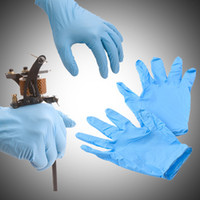 Wholesale 100 Professional disposible Gloves with blue Latex Rubber Tattoo Piercing Gloves for tattoo supplies WS067