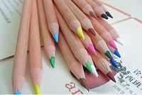 Wholesale Low carbon Environmental Protection Log Color Wooden Pencil Crayons Colored pens
