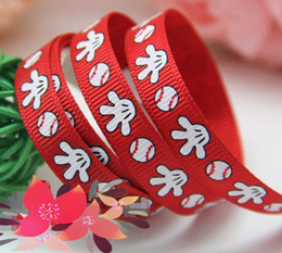 Wholesale quot cartoon glove ribbon grosgrain ribbon printed ribbon red ribbon polyester