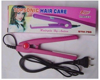 Wholesale Travel flat hair iron mini hair straightener ceramic flat curling iron