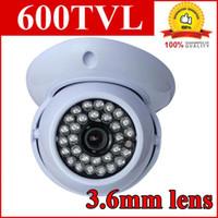 Precio de Sistema de seguridad de la bóveda del ccd-CCTV 600TVL 36IR cúpula cámara de seguridad interior CCD cámara de vigilancia del sistema H636