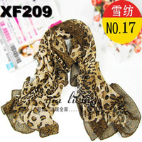 Fashion Scarf Lady Scarves Chiffon Hot Sales Brown Leopard S...