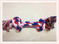 Wholesale 10Pcs Dog Puppy Pet Cotton Braided Bone Rope Chew Knot Toy