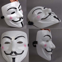 Wholesale V Mask FOR Vendetta Anonymous Movie Adult Guy Mask White Color Halloween Cosplay