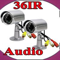 al por mayor ccd sistema de cámaras de vigilancia-1/4 Sharp cámara de audio CCD a prueba de agua cámara de seguridad sistema de vigilancia