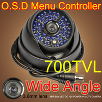 Wholesale 700TVL OSD MENU CONTROLLER SUPER HAD CCD COLOR ARMOR IR DOME CAMERA mm