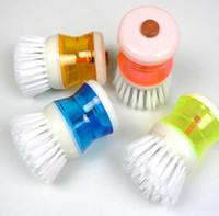 Wholesale Kitchen Plastic Pressure Liquid Cleaning Pot Brush