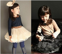 Wholesale Children s autumn cute girls princess canopy tent dress cake skirt dress dandys