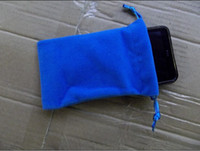 Wholesale colorful cotton soft case for phone mp5 mp4 mp3 lint cloth bag pouch inch sleeve case
