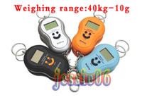 Wholesale LED kg g portable portable electronic scale portable scale spring balance LCD Smiling face