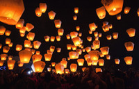 Wholesale Sky Lantern Chinese Fay Balloon Wishing Lamp Paper Sky Candle Xmas Wedding Flying Party Lanterns