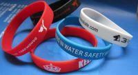 Wholesale 500pcs custom texts logo rubber wristbands EG WBP001 customized silicone bracelet for events amp promotion gift