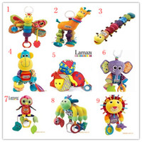Wholesale Lamaze Toy Crib toys with rattle teether Infant Early Development Toy stroller music Baby doll toy