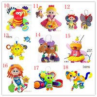Wholesale 23 Styles Lamaze toys Baby Toy Baby Car Bed Hanging Educational Toys Sound Paper BB Device