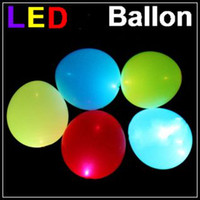 Wholesale 100pcs LED Ballon Wedding flashing balloon light up balloon Party Christmas inflatable ballons