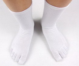 Wholesale Brand New Men Socks Cotton Five Toe Socks Anti bacterial Deodorant Toe s Socks For Men