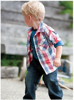 Wholesale Baby boy s long sleeve suits T shirt denim pant pc set children garment new chirstmas gift clothing
