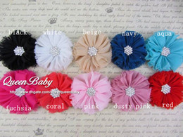 Vintage Chiffon Shabby Look Flower Hair Clip Shoe Clips Infant Hair Accessories Newborn Photography Props 240pcs lot QueenBaby