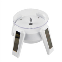 Wholesale Solar Powered Degree Rotary Turntable Display Stand with LED Light Y1056B