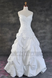 Wholesale SPAGHETTI STRAPS RUCHED BODICE TAFFETA WEDDING DRESS _we50