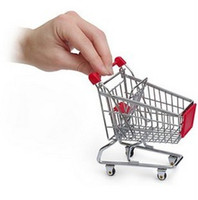 Wholesale 6PCS MINI S size Supermarket Shopping Cart Portable storage baskets suit for Mobile Phone Holder