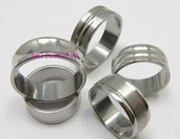 50 PCS diseño de la mezcla hombres de la plata del pulimento de anillos de acero inoxidable joyería al por mayor Lotes