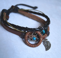 beaded dreams - 2012 new arrival fashion dream catcher bracelet with leaf