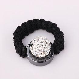 Cute 10mm Shining Crystal Pave Disco Ball Crystal Bead Handmade Finger Rings 30pcs Hot Sale