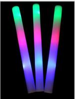 cheer gifts - EMS fast free shiping gift led foam stick light up cheering glow foam stick foam glow stick led stick