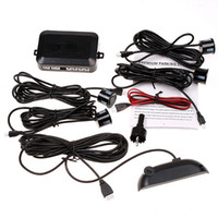 Wholesale 4 Sensors System V LED Display Indicator Parking Car Reverse Radar Kit Black