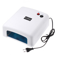 Wholesale Better Material W V Gel Curing Nail Art UV Lamp EU Plug with W nm Bulb H1824