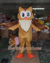 Wholesale adult size brown owl mascot costume character costume party outfit