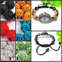 Wholesale 2012New Bling Disco Ball Bracelet Pave Crystal Disco Beads Watch Friendship Gift Disco Ball Watch