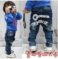 3-9year baby corduroy trousers - Children s children jeans trousers star letters jeans boy s jean pant baby jean pant